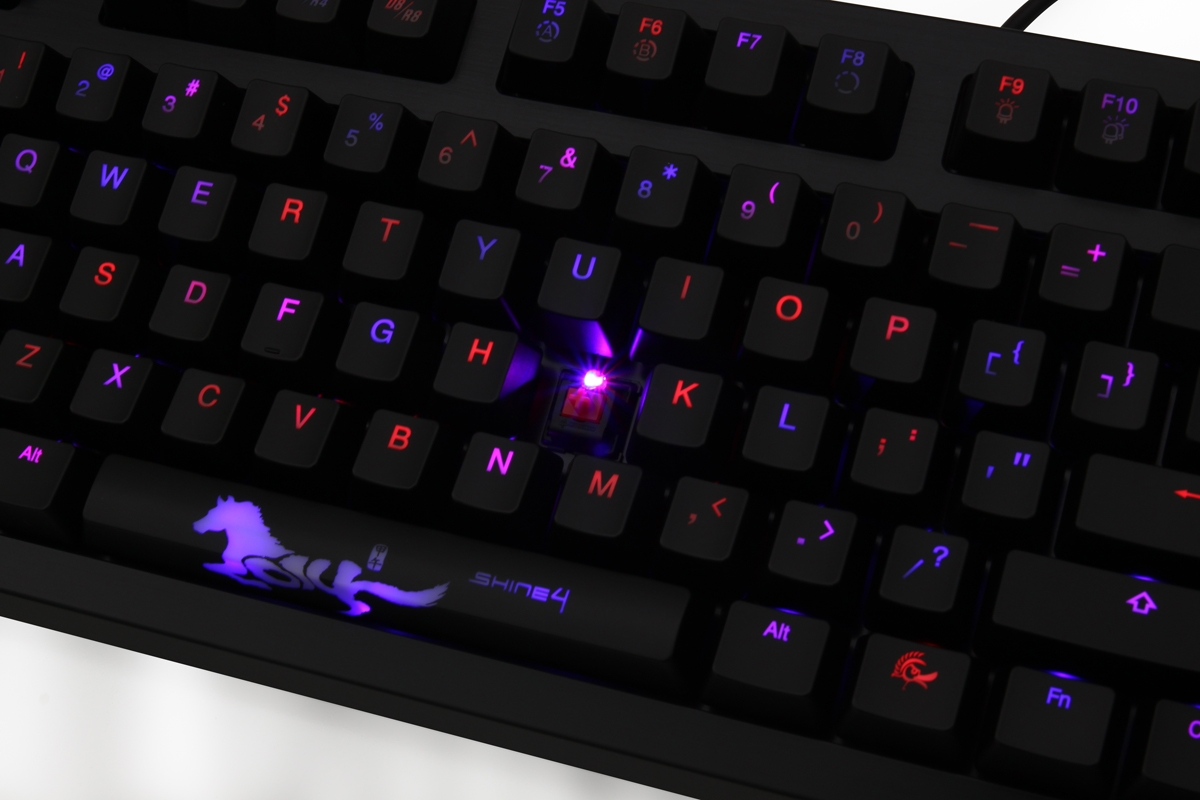 Ducky Shine 4 Blue / Red LED Backlit Mechanical Keyboard (Brown Cherry MX)