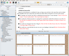 Tianxia Rules Companion on Scrivener