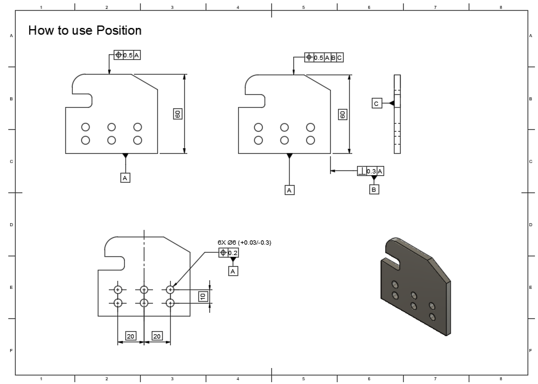 Geometric Dimensioning & Tolerancing: Position > MechApe