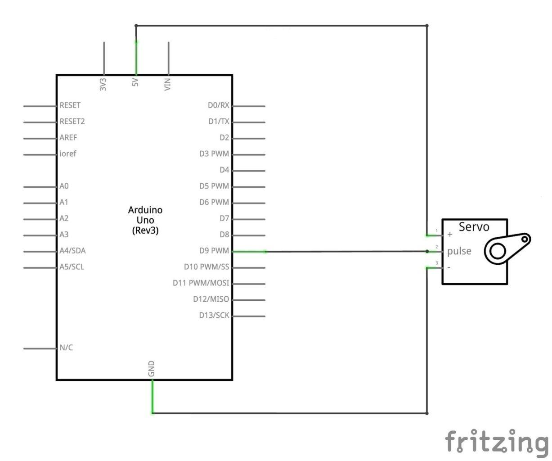 hight resolution of servo motor arduino connection