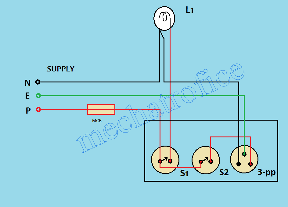 light up a 3 pole switch wiring diagram