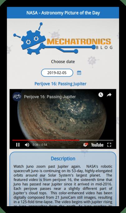 APoD app screenshot