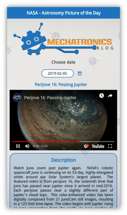 APoD app screenshot