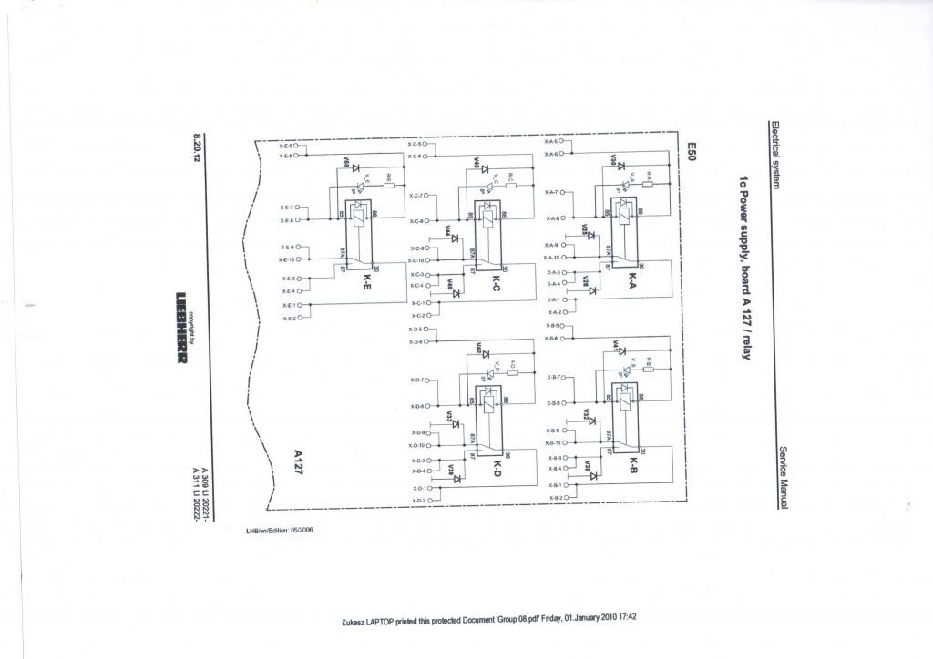 schematy elektryczne Volvo Atlas O&k Liebherr Doosan
