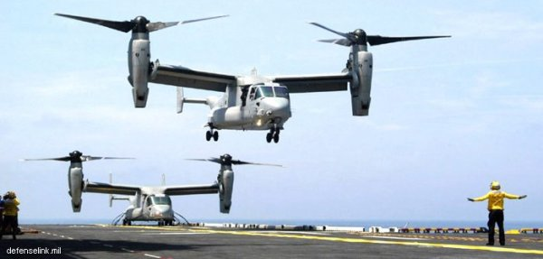 Boeing's V-22 Osprey, a helicopter & an airplane.