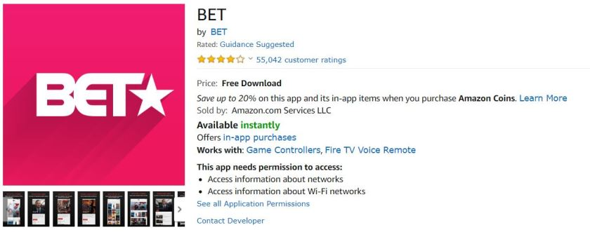 activate bet on amazon fire tv