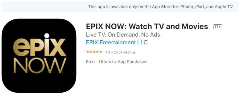 Epixnow.com/activate on Apple TV