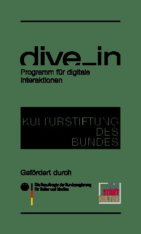 """Gefördert wird die Filmtour durch die Kulturstiftung des Bundes im Rahmen des Bundesprogramms """"NEUSTART KULTUR – Dive In""""."""