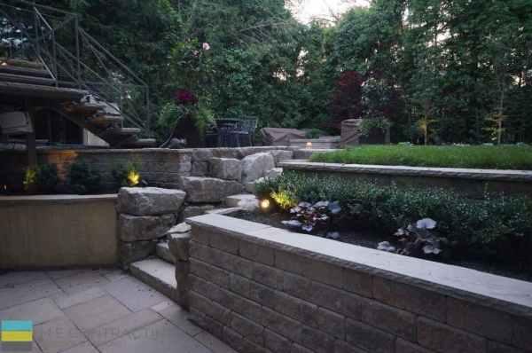 landscaping walkout basement