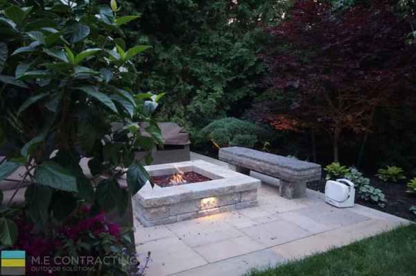 complete-landscaping-project-walkout-basement-firepit-interlocking 18