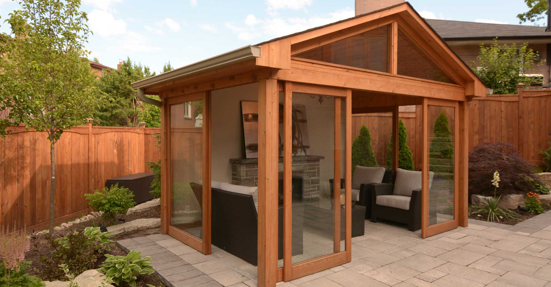 Toronto gazebo design and build  ME Contracting decks and landscaping