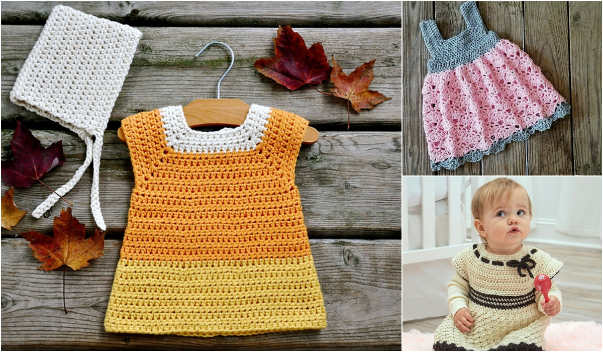 3 Cute Crochet Childrens Dress Patterns Easy And Funny Ideas For A Lovely Crochet Ba Dress