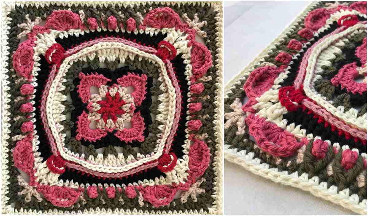 3 Magnificent Ideas of the Free Crochet Rose Afghan Pattern Lauren Rose Square Free Crochet Pattern Your Crochet