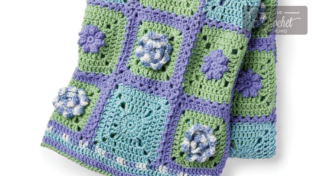 3 Magnificent Ideas of the Free Crochet Rose Afghan Pattern Stitch Along Crochet Spring Garden Afghan The Crochet Crowd