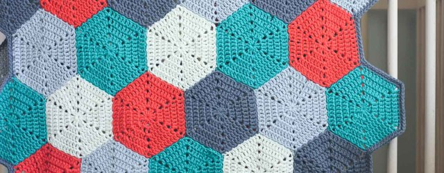 3 Simple Models of Crochet Spiral Afghan Pattern Happy Hexagons Free Crochet Afghan Pattern Make Do Crew