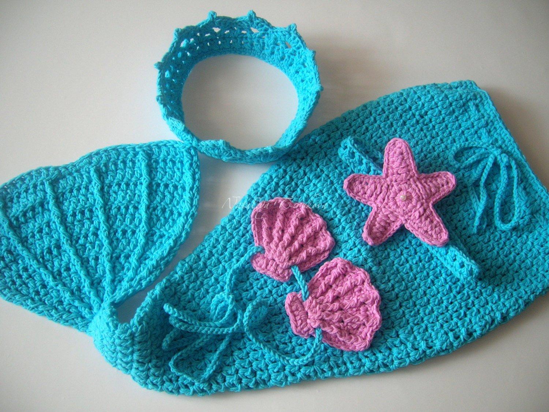 Amazing Crochet Mermaid Pattern for Baby's Mermaid Tail Crochet Mermaid Outfitba Mermaid Tailba Mermaid Ba Mermaid