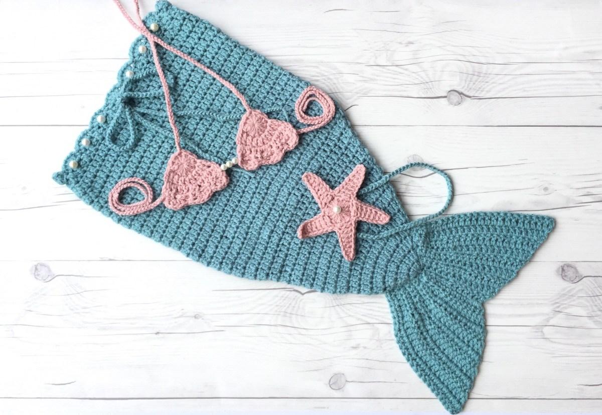 Amazing Crochet Mermaid Pattern for Baby's Mermaid Tail Crochet Mermaid Tail Newborn Photo Outfit Mermaid Sets Etsy