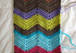 Chevron Scarf Crochet Pattern  Crochet In Color Chevron Scarf Pattern