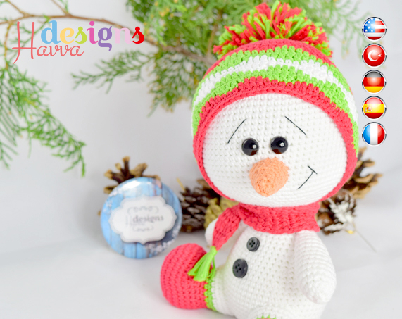 Crochet Pattern For Snowman Amigurumi Snowman Christmas Decoration Crochet Pattern