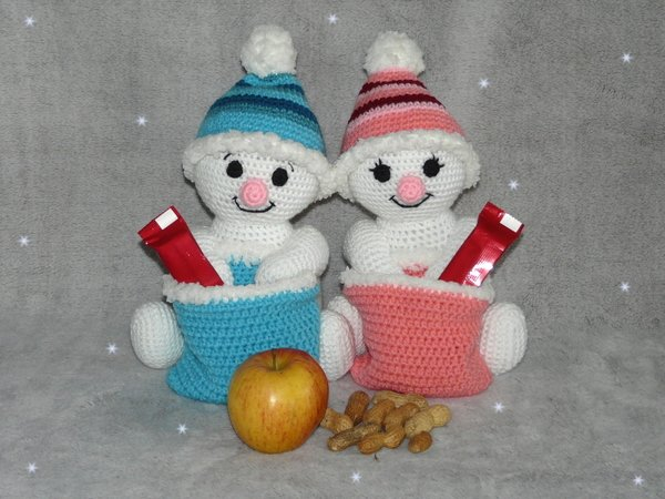 Crochet Pattern For Snowman Crochet Pattern Snowman Or Snowgirl With Santas Bag