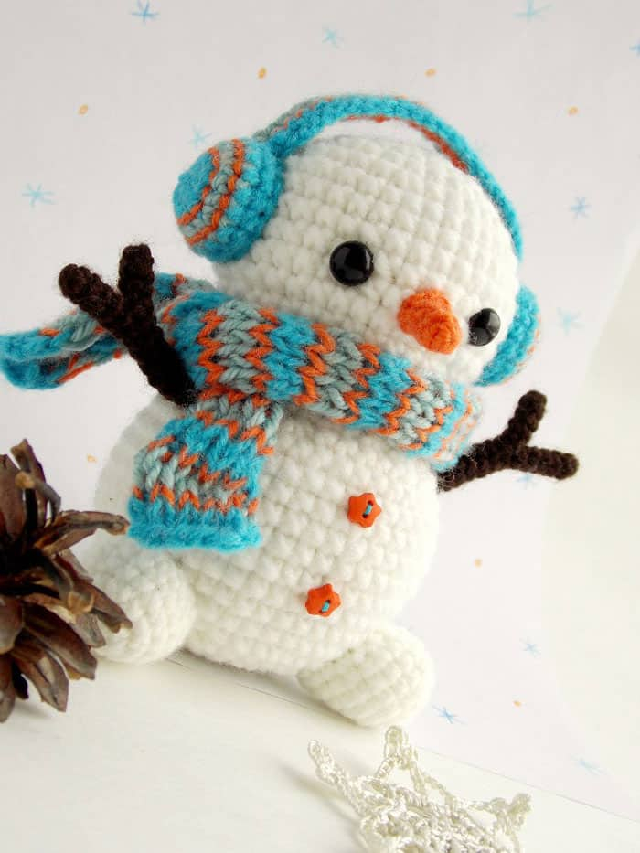 Crochet Pattern For Snowman Free Crochet Snowman Pattern Amigurumi Today