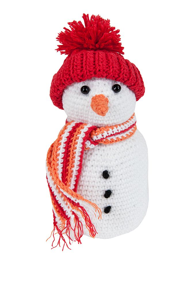 Crochet Pattern For Snowman Mary Maxim Amigurumi Character Kit Snowman