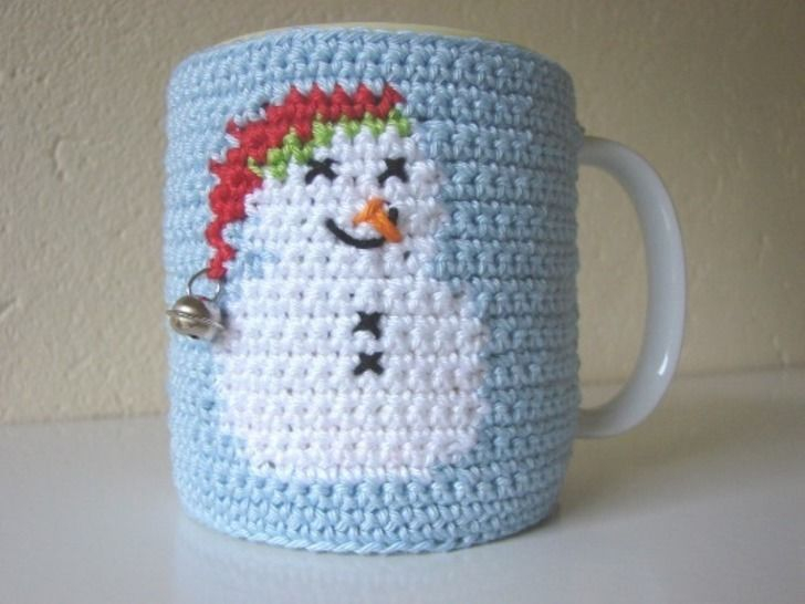 Crochet Pattern For Snowman Mug Cosy Snowman Crochet Pattern Winter Coffee Sleeve
