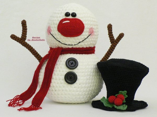 Crochet Pattern For Snowman Snowman And Friends Crochet Pattern Haekelkeks
