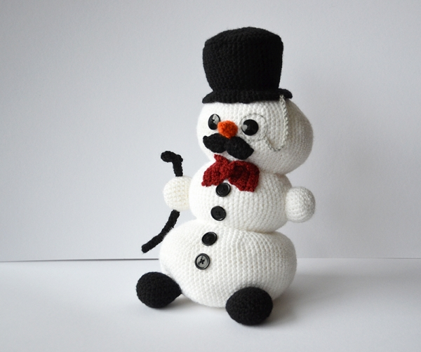 Crochet Pattern For Snowman Snowman Like A Sir Amigurumi Pattern Amigurumipatterns