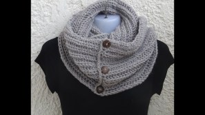 Easy Infinity Scarf Crochet Pattern Infinity Scarf Very Easy Pattern With Knitting Stitches Youtube