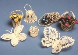 Free Crochet Butterfly Pattern  Pdf Crochet Pattern Butterflies Bells Baskets Thread Etsy