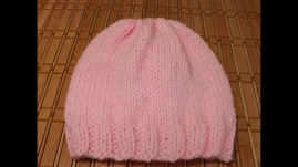 Free Crochet Newborn Baby Hat Patterns How To Knit A Newborn Bas Hat For Beginners
