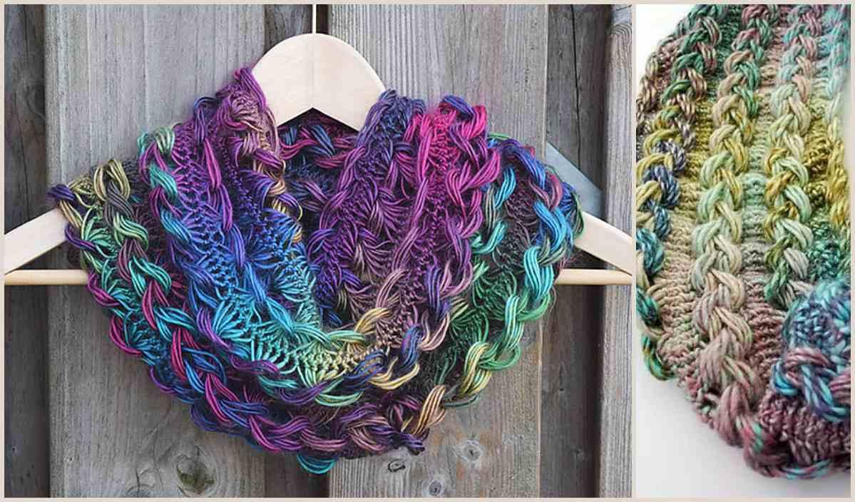 Free Infinity Scarf Crochet Pattern  Braided Hairpin Lace Infinity Scarf Free Crochet Pattern Your Crochet