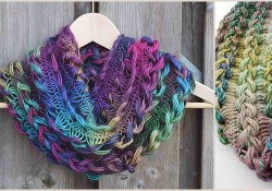 Free Infinity Scarf Crochet Pattern  Braided Hairpin Lace Infinity Scarf Free Crochet Pattern Your Crochet