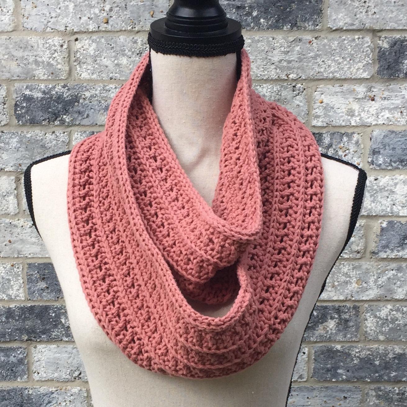 Free Infinity Scarf Crochet Pattern  Crochet Scarf Pdf Pattern Crochet Infinity Scarf Pattern Etsy