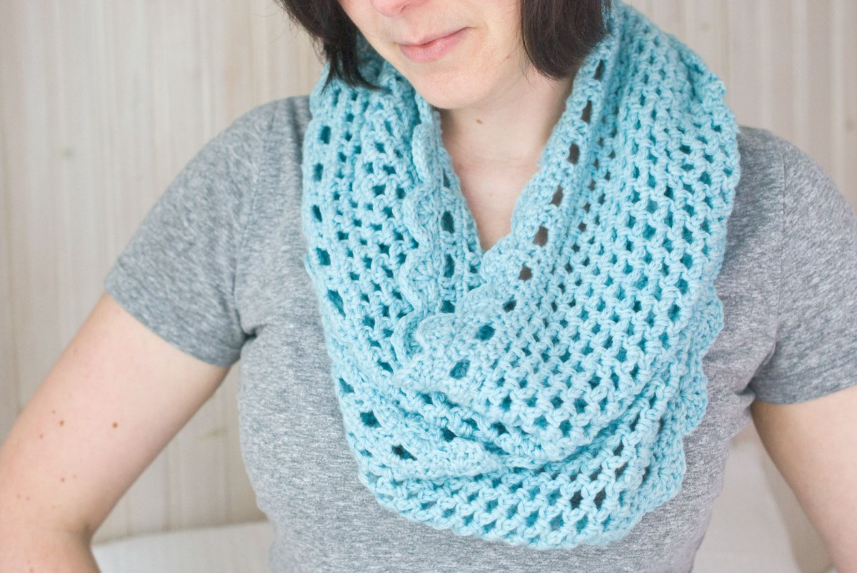 Free Infinity Scarf Crochet Pattern  How To Crochet And Infinity Scarf