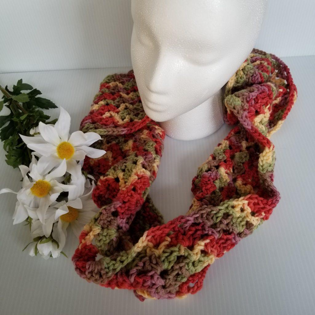 Free Infinity Scarf Crochet Pattern  Luxury Infinity Scarf Free Crochet Pattern Artsy Daisy Crochet