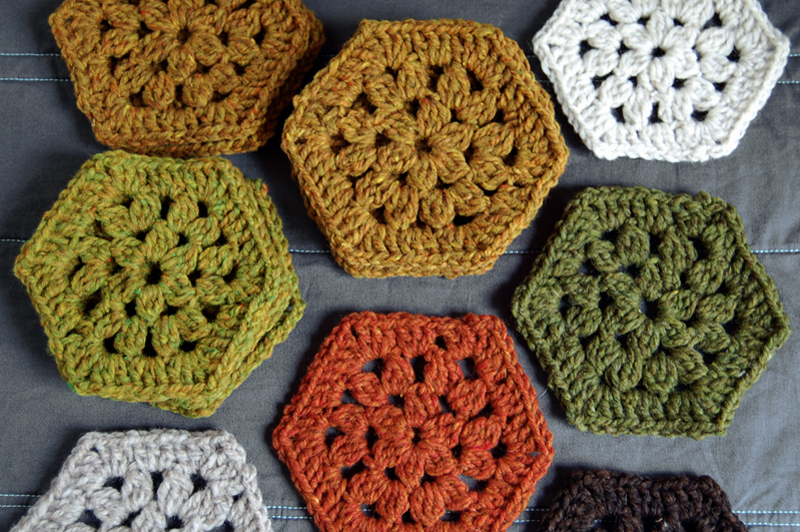How To Make A Crochet Pattern Crochet Hexagon Blanket Getting Started Loop Knits