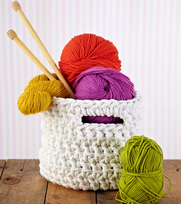How To Make A Crochet Pattern Free Crochet Pattern Chunky Crochet Storage Tubs Mollie Makes