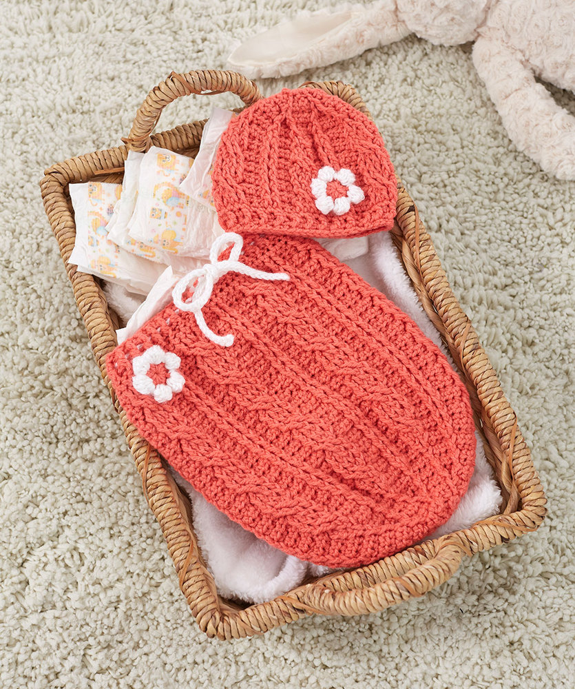 List of Easy Baby Cocoon Crochet Pattern Just Peachie Cocoon Set Red Heart