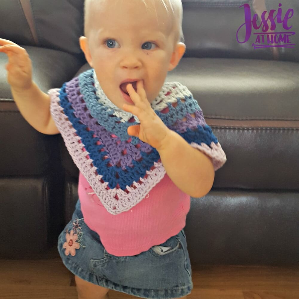List of Free Crochet Patterns for Toddlers Ponchos Evie Poncho Jessie At Home