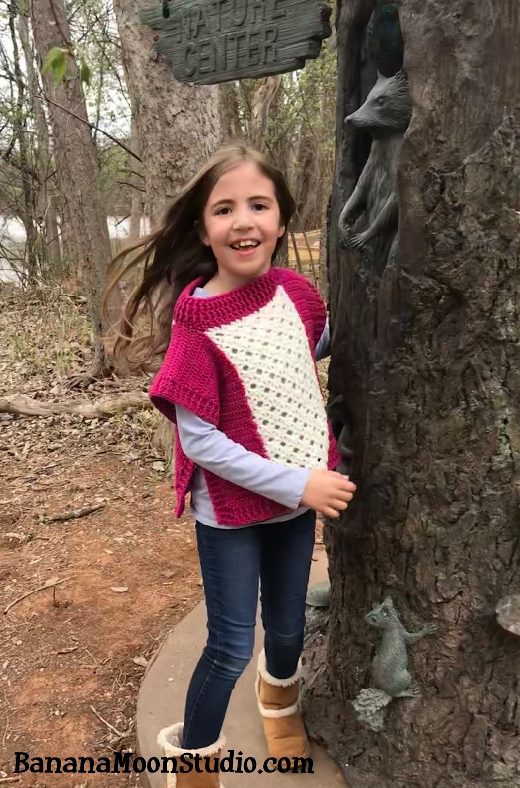 List of Free Crochet Patterns for Toddlers Ponchos Free Crochet Pattern For A Girls Poncho Roland Poncho Banana Moon