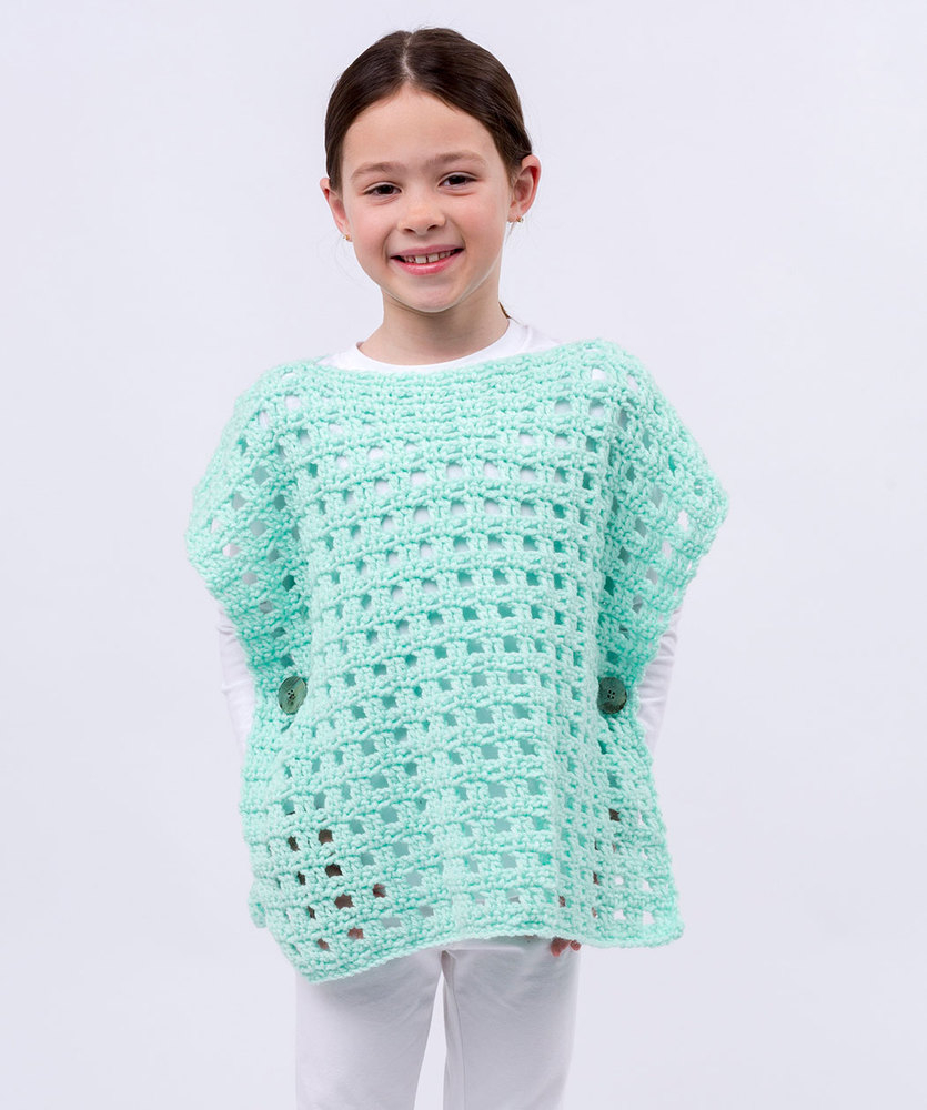 List of Free Crochet Patterns for Toddlers Ponchos Simply Stated Child Poncho Red Heart