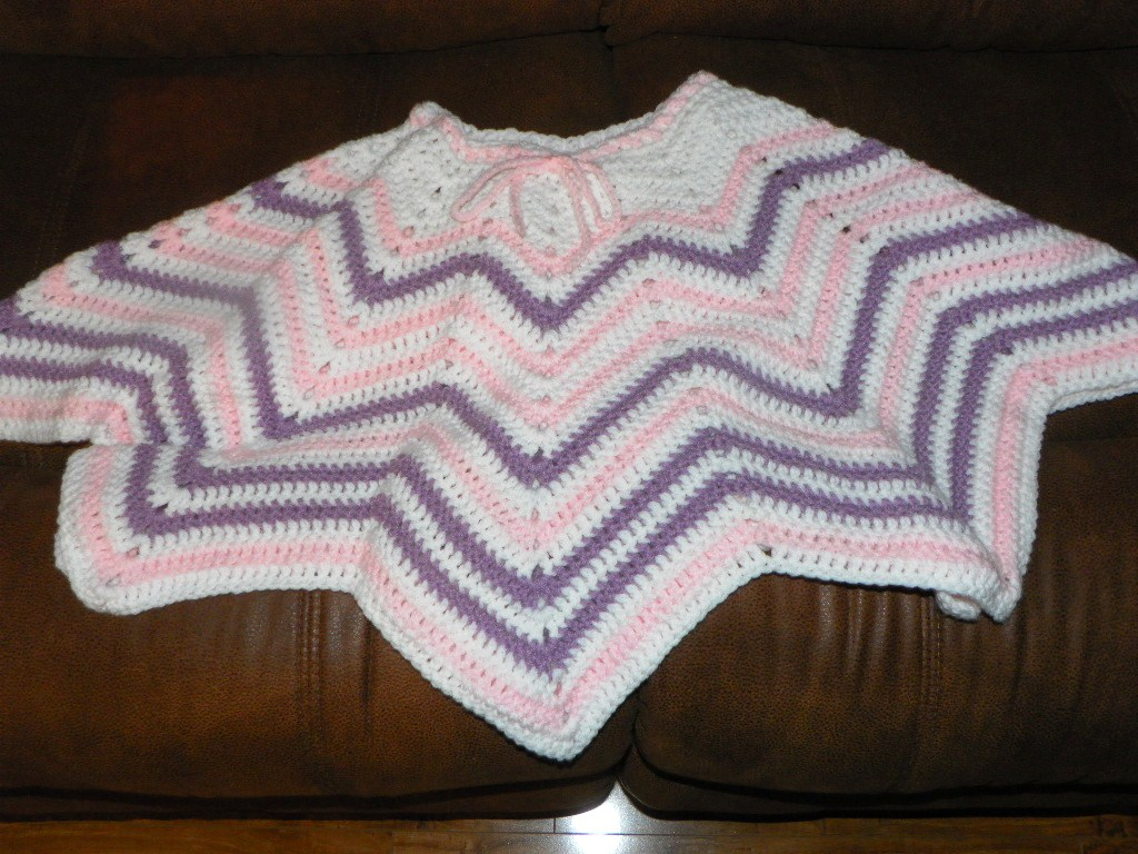 List of Free Crochet Patterns for Toddlers Ponchos Yarnjeannies Crochet Cache Ripple Poncho For A Toddler