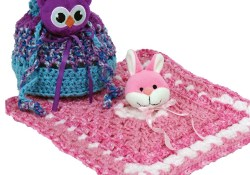 Owl Purse Crochet Pattern Bags for Free Mary Maxim Free Top This Drawstring Purse Blankie Pattern
