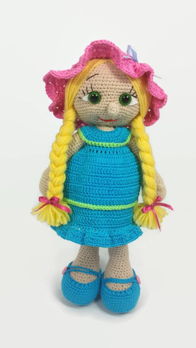 Quick Large Crochet Doll Patterns to Choose Crochet Doll Amigurumi Doll Crocheted Doll Toy Handmade Etsy