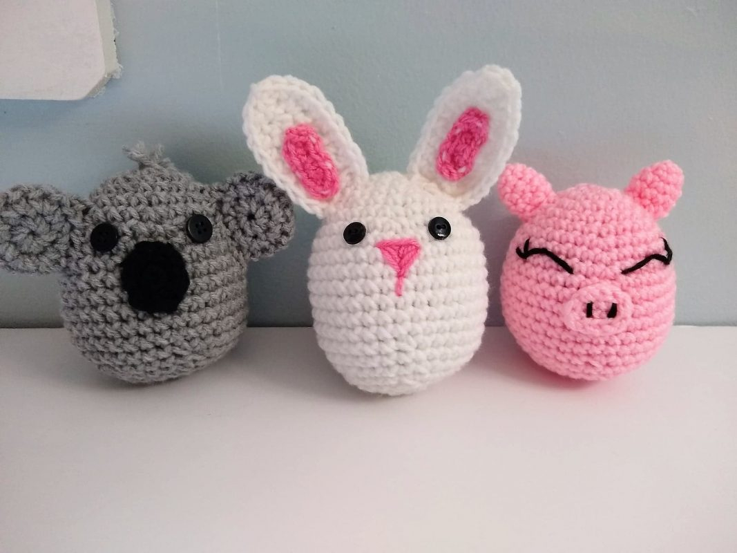 Quick Large Crochet Doll Patterns to Choose Large Crocheted Pig Egg Bunny Egg Or Koala Egg Doll Perfect For