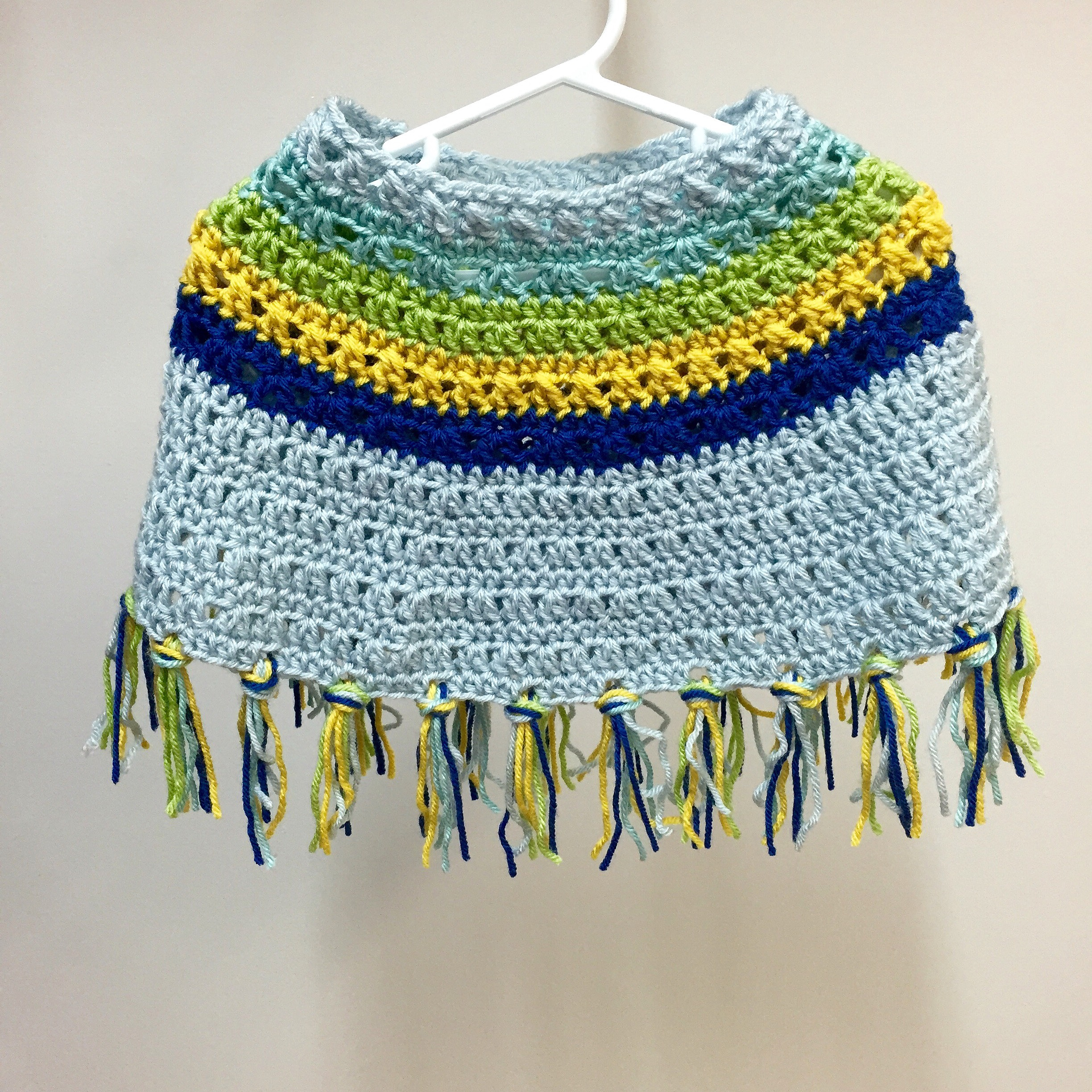 Simple Poncho Crochet Pattern Crochet Pattern Bohemian Stripes Poncho Or Cape For Toddlers