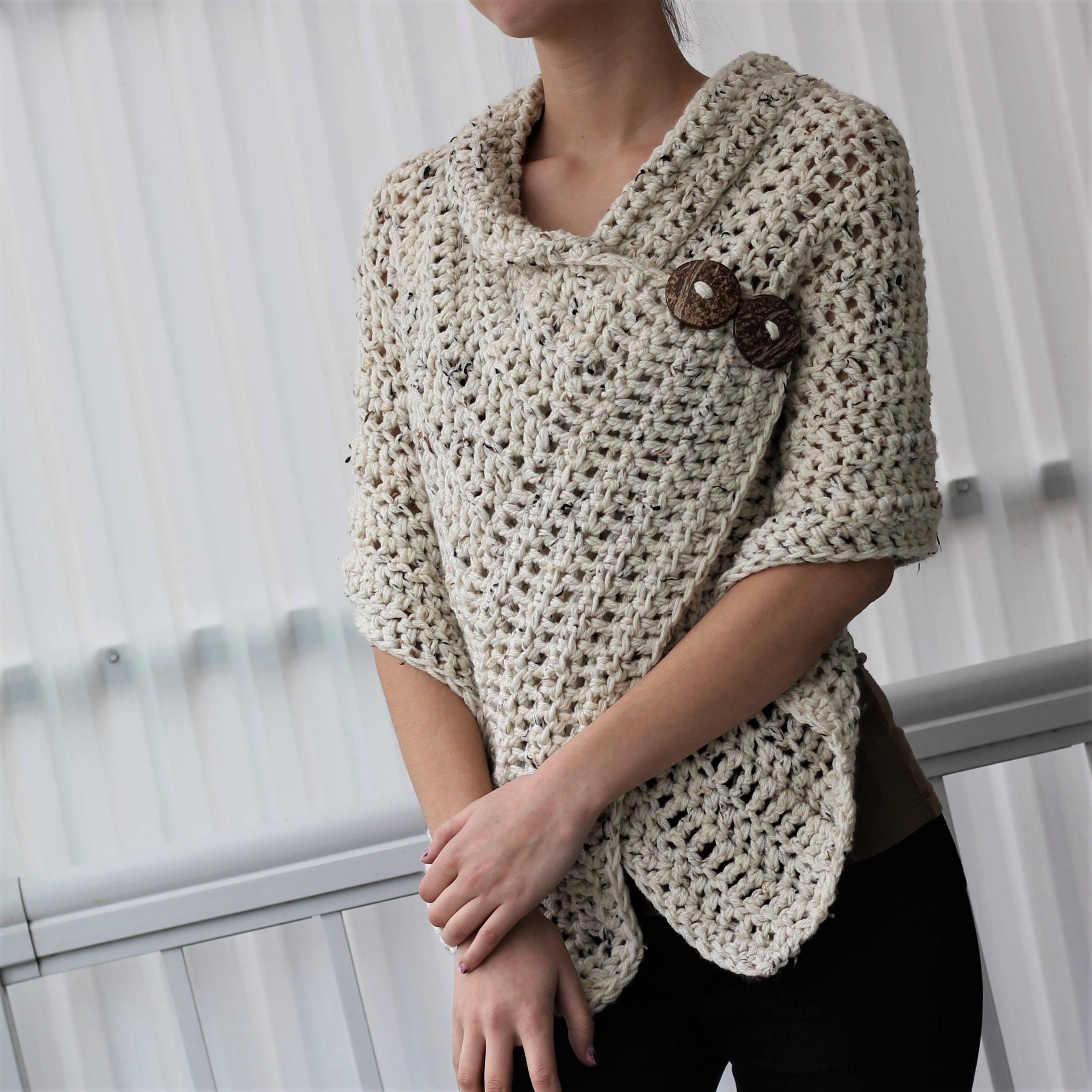 Simple Poncho Crochet Pattern Easy Crochet Pattern Beginner Crochet Patron Crochet Azali Etsy