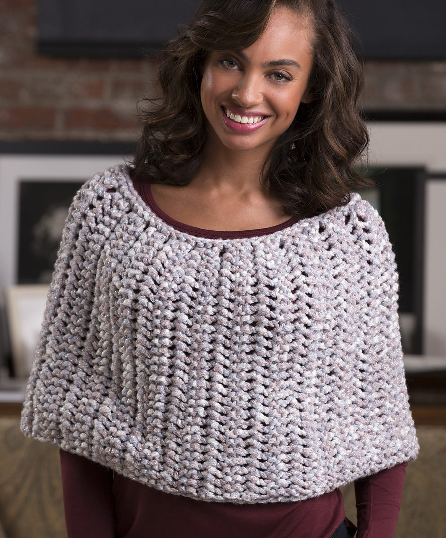 Simple Poncho Crochet Pattern Easy Poncho Knitting Patterns In The Loop Knitting